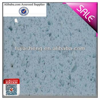 Light Blue Sparkle Quartz Stone Countertop