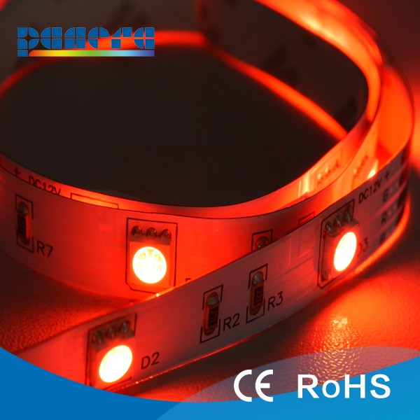 Chinese factory price 30 <strong>leds</strong>/m 12 VDC smd 5050flexible <strong>led</strong> strip with Ce Rohs