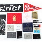 100PCS US$19 Factory Cheap Price Custom Name Logo Damask Garment Woven Labels for Clothing and Cloth