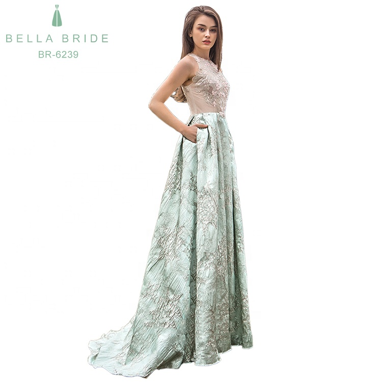 Elegant Wedding Guest Dresses With Pocket Green Women Party Long Wedding Evening Dresses For Wedding Party Buy Women Dresses Party Long Wedding
