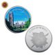 WR Woders of United Kingdom Victoria Tower Quality 999 Silver Foil Coin with Round Case for Collection