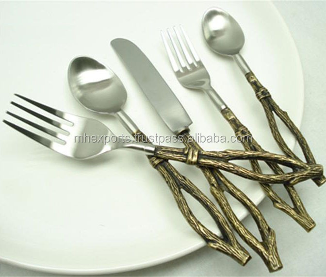 Brass Fancy Cutlery Set Set Of 5 With Twig Design Handle - Buy Brass Antique Twig Design Dining Table SetUnique Cutlery SetFancy Cutlery Set Product on ... & Brass Fancy Cutlery Set Set Of 5 With Twig Design Handle - Buy Brass ...