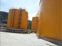 Oil pipelines, chemical pipelines, oil refineries storage tanks.