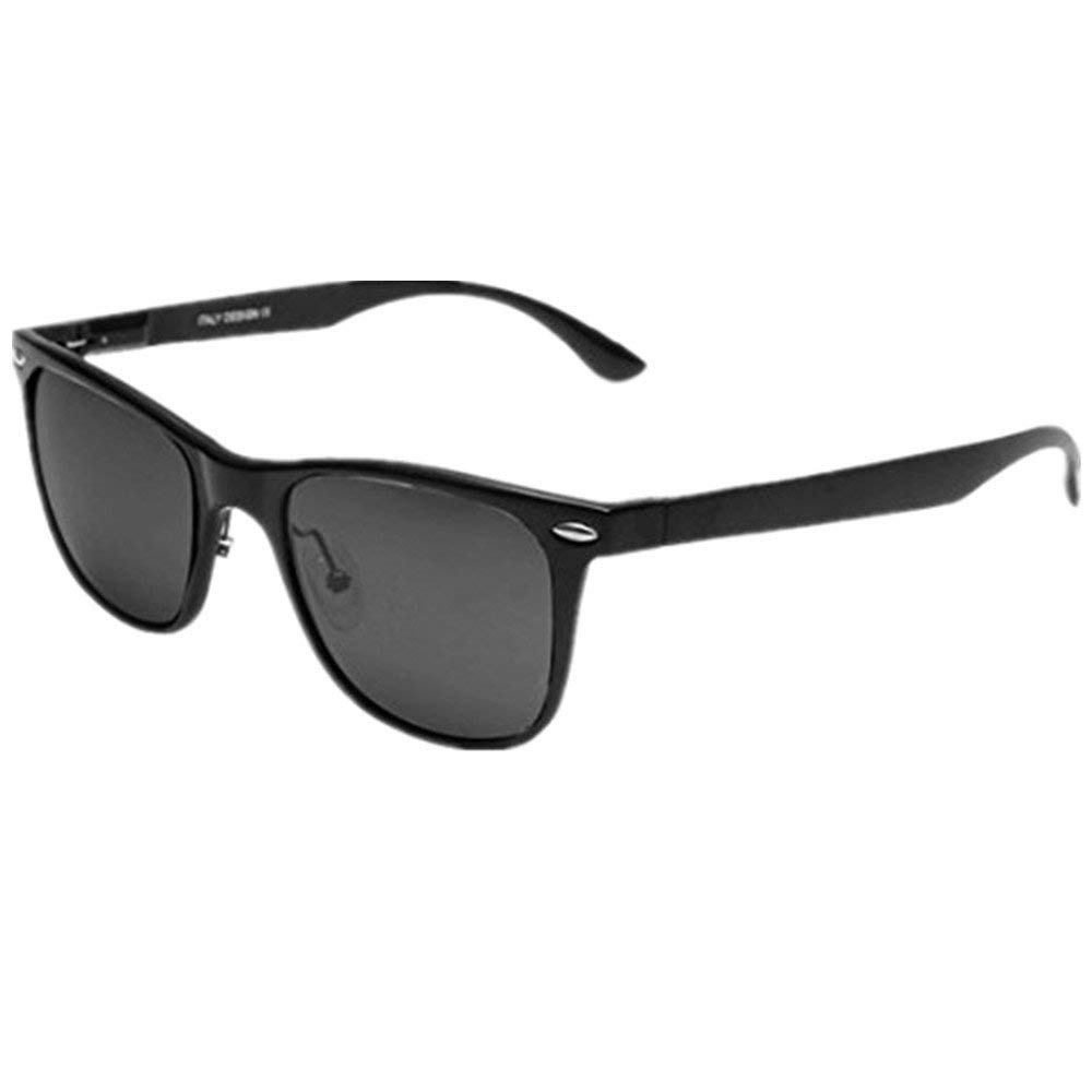 I'M KING Retro Classic Aluminum Magnesium Frame Polarized Sunglasses
