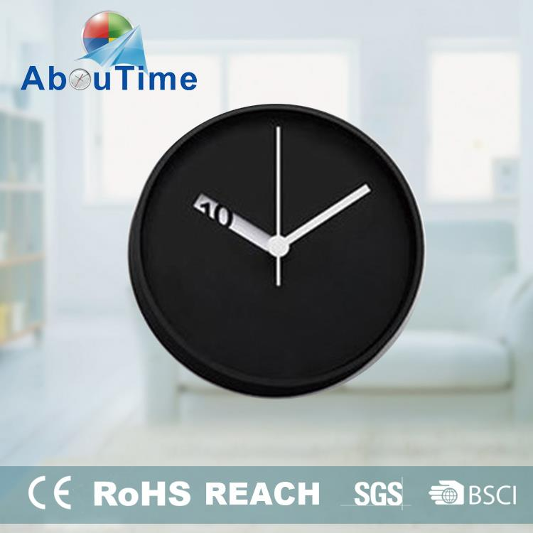 Home decoration canvas oil painting time wall clock for promotion