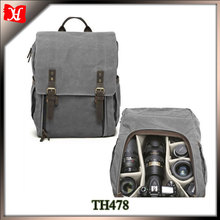 Backpack bag Type and Leather and waterproof canvas dslr camera backpack
