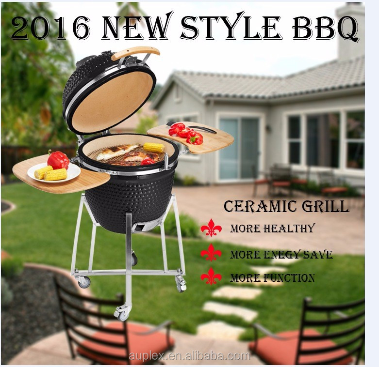 Outdoor shiny ceramic commercial charcoal bbq grill/Auplex