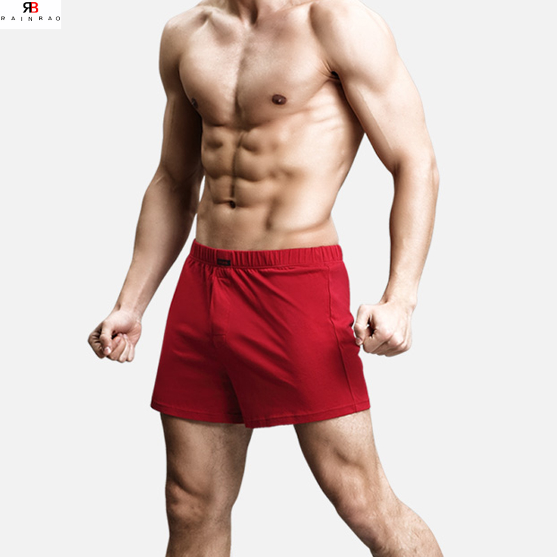 High quality fashion wholesale bule color mens silk boxer shorts
