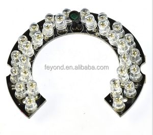 Shenzhen Feyond CCTV Camera Assembling Spare Parts 5mm 30 pcs infrared night vision lamp led lamp board FY-H30