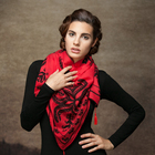 100% Wool Square Fashionable Lady Scarf