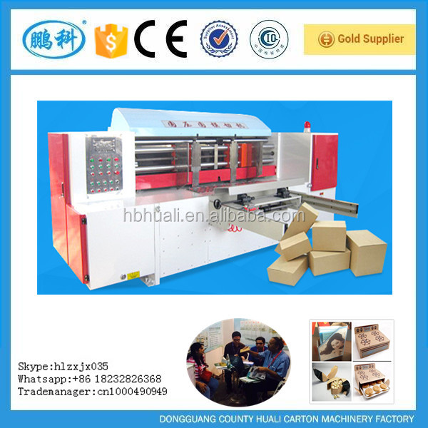 full automatic system cellular board carton cutting machine with rotary cutter