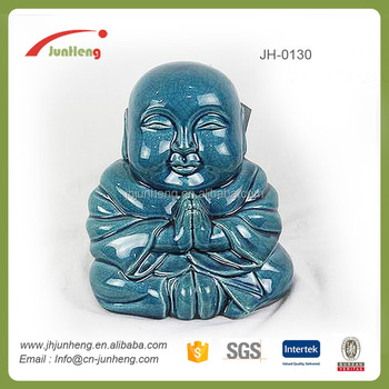 Garden Supplies Ornaments Ceramic Clay Buddha Statue, Stone Statue,  Laughing Buddha Garden Statues