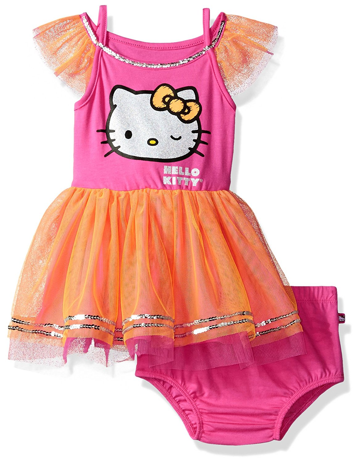a04797f5e50e4 Get Quotations · Hello Kitty Toddler Girls  Embellished Tutu Dress
