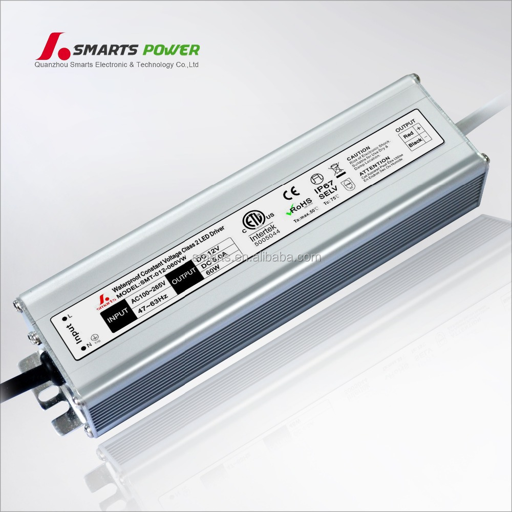 IP67 led waterproof smps 12v 5a ac/dc power supply 60w