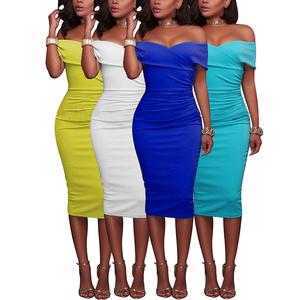 Women Clothing Print Floral Long Short Sleeve Slim Casual Maxi Dress