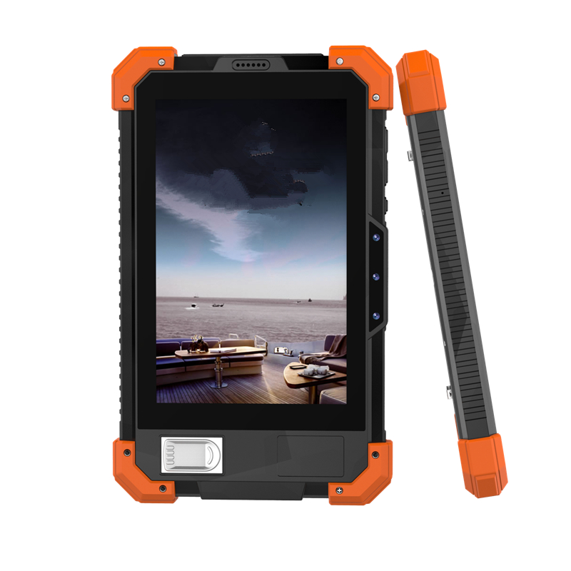 Supplier manufacture 7inch MTK6737 quad core 2+32G 8MP camera support NFC 1D/2D QR fingerprint tablet rugged