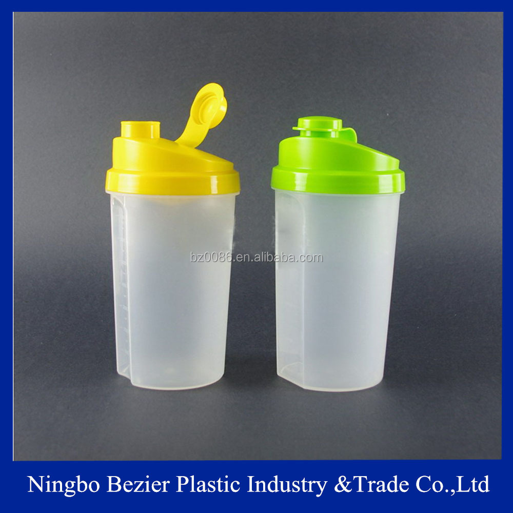 600ml custom logo protein blend shaking cup with extra compartment for snacks, vitamin,protein ,supplements