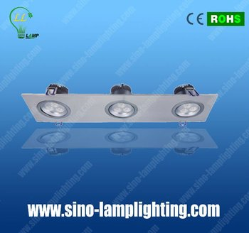 high power square ceiling light