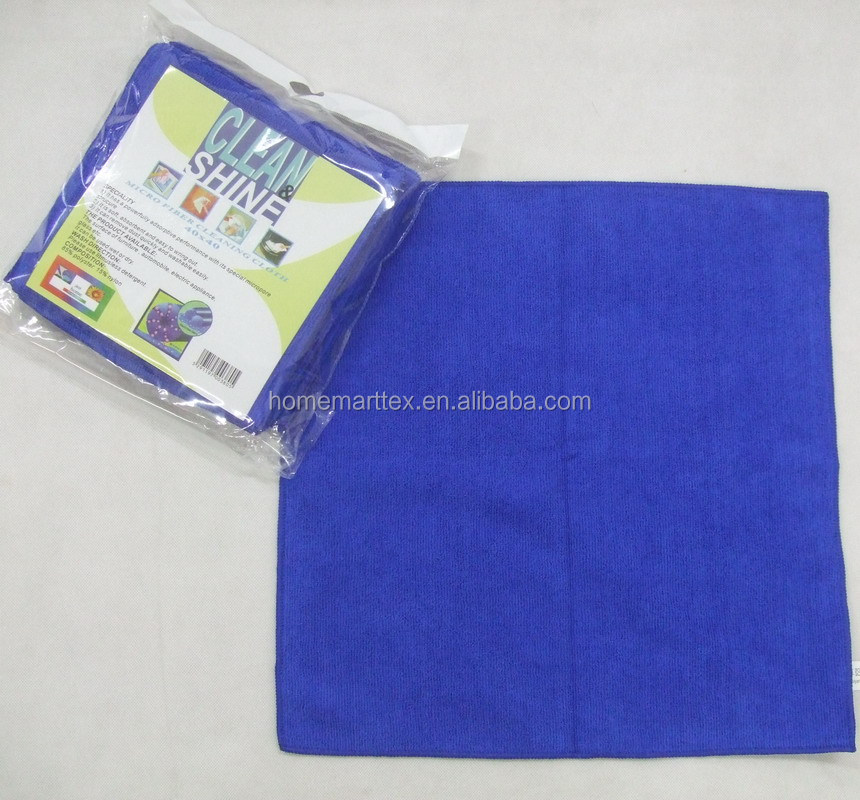 40x40cm bright color tea towel warp knitted microfiber towel 80% polyester 20% polyamide microfiber towel