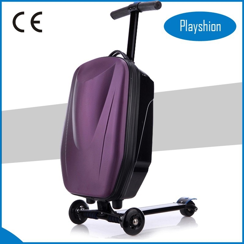Fashion suitcase,scooter school bag,foldable scooter suitcase,