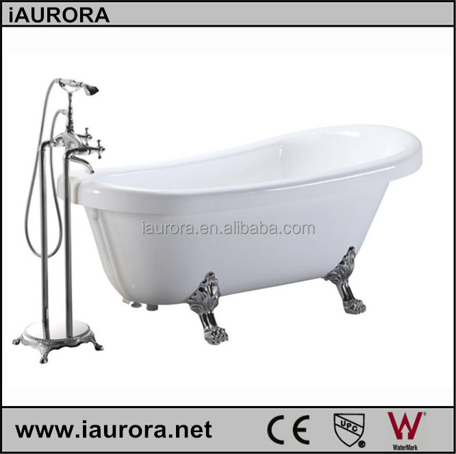 Antique Style Bath 66 Inch, Free Standing Faucet And Chrome Overflow
