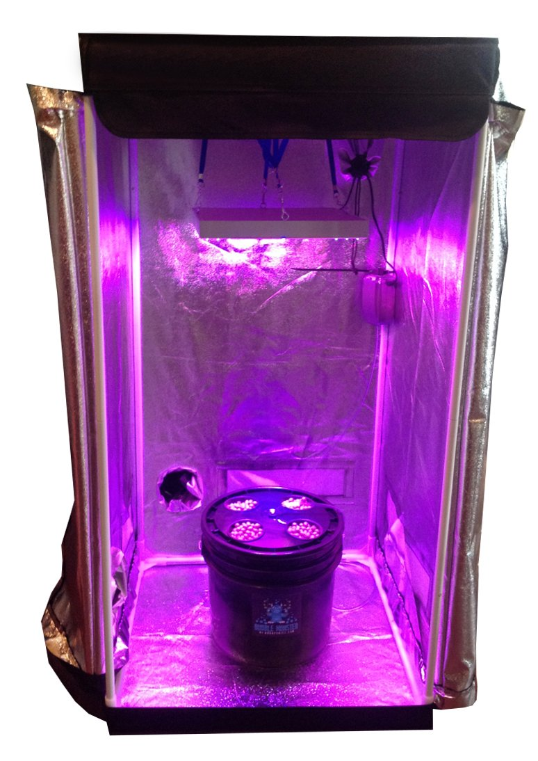 4 Site Hydroponic Grow Room - Complete Grow System with Grow Tent - LED Grow Lights