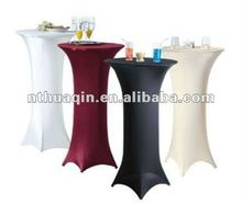 Four way stretch high bistro tablecloth bar table cover spandex stretch highboy cocktail table cover