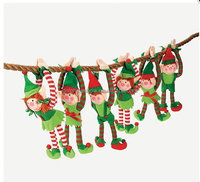 Wholesale cheap 2018 christmas gift plush elf toy for kids Fashion cute stuffed soft plush christmas 8'' elf doll