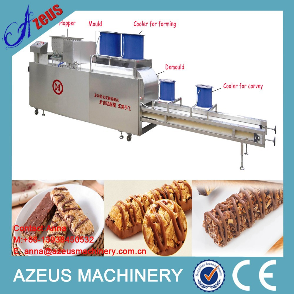 Delicious crispy chocolate cereal snack making line/cereal bar with chocolate coating machine