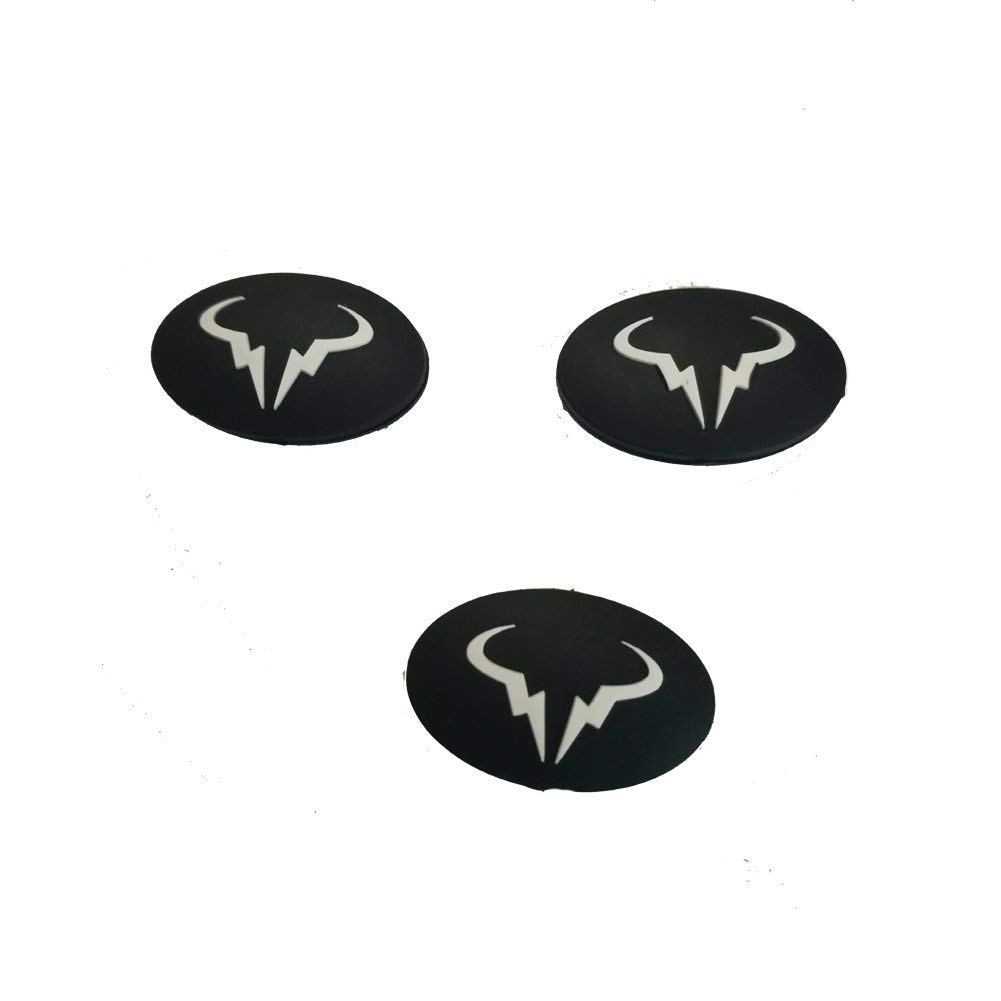 Weiquanji Black Dampeners for Tennis, Badminton, Racquetball & Squash Racket Damper Tennis Vibration Dampeners