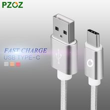 PZOZ New 1m  USB Type-C Sync Data Charger  Cable  for Letv le1 Pro MAX 1s Smartphone xiaomi 4c