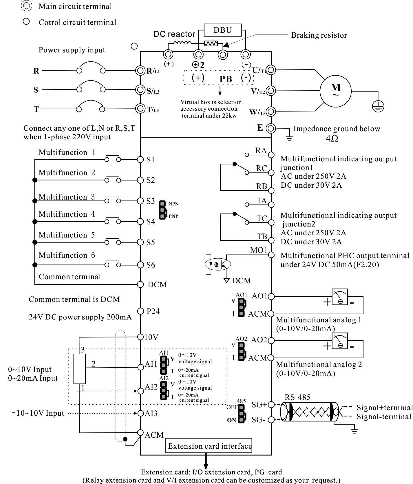 50hz 60hz 3 Phase 380v Inverter Vfd  Frequency Converter