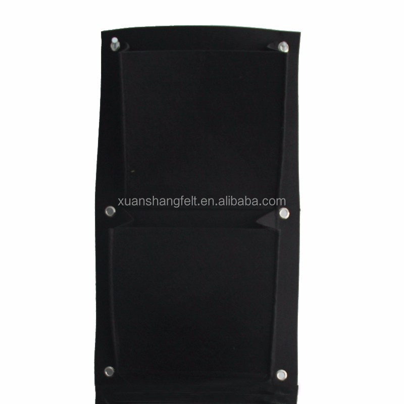 customized space saving vertical garden felt pockets from china