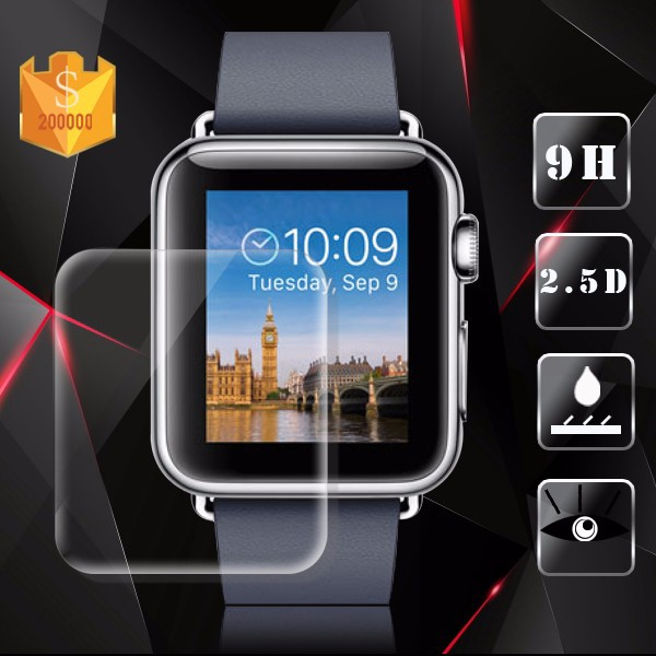Best selling 9H 2.5D high quality for apple watch tempered glass screen protector