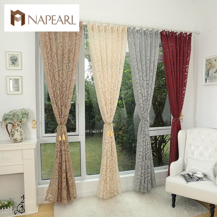 Modern Luxury Style Interior Design: Fashion Style Jacquard Window Treatments Cortinas Luxury