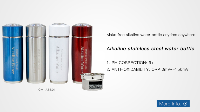 WB-AHB12 glass Infusion Hydrogen Water Bottle with Stainless Steel Filter