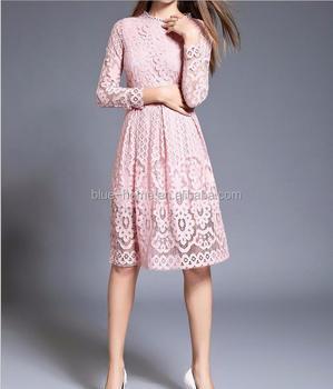 1cdbf92b5939 High Quality Women Bohemian Lace Autumn Crochet wedding dress Long Sleeve  Plus Size Dress Clothing