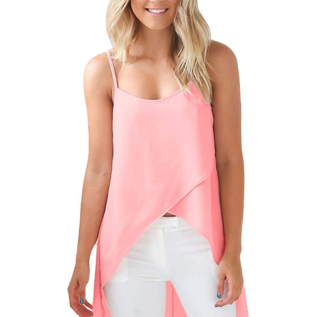 Hmlai 2018 New! Women's Summer Vest Top Chiffon Loose Sleeveless Shirt Blouse Casual Tank Tops T-Shirt