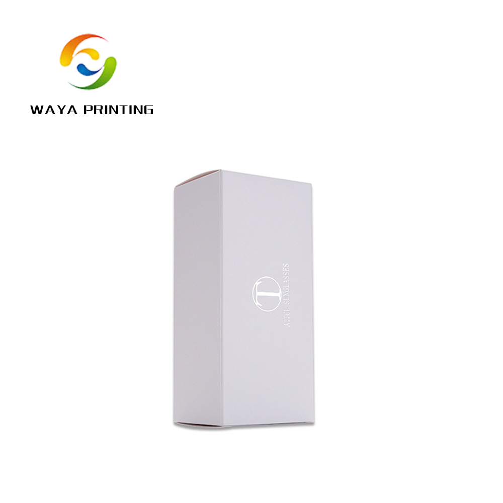 White simple printing logo Cell phone paper packing box
