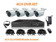 DVR Kit 4CH H.264 HD DVR Recorder 4x 700TVL CCD Outdoor 24 IR-Led Dome Camera Security CCTV surveillance system NO HDD