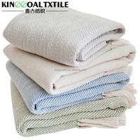 Super Soft Woven 100% cotton fringe blanket throw