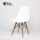 Hot sale foshan desk office guest visitor chair with four wooden leg