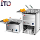 High Efficiency Heavy Duty Commercial Stainless Steel Water Oil Mix Fryer