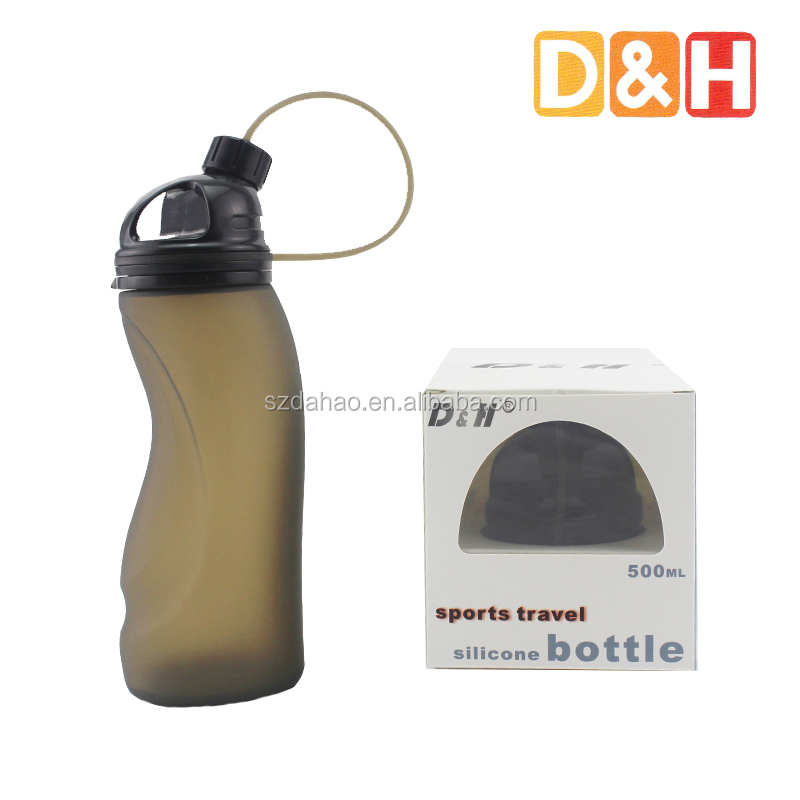 Shenzhen D&H Silicone Water Bottle, foldable water bottle for outdoor from Alibaba