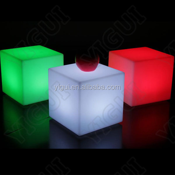 Amazing 60CM Cubes Colorful Useful Chairsu0026Tables Furniture LED Cube Lighting