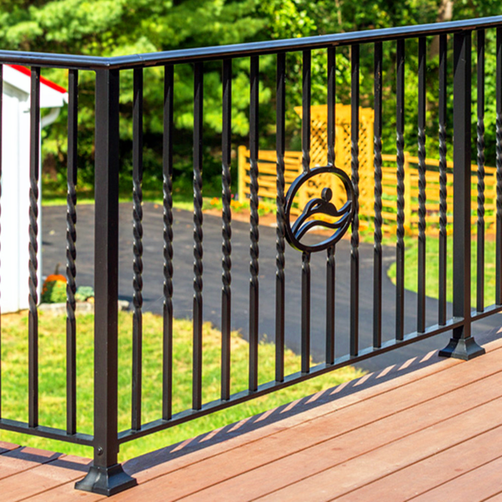 Light weight italian wrought iron railing design