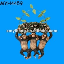 """Welcome to my jungle"" monkey garden welcome sign"