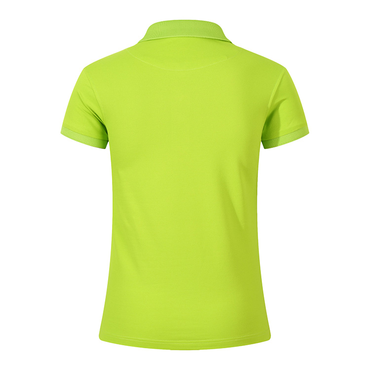 Custom printed breathable ladies t shirt high quality dry fit premium yellow polo shirt cotton women