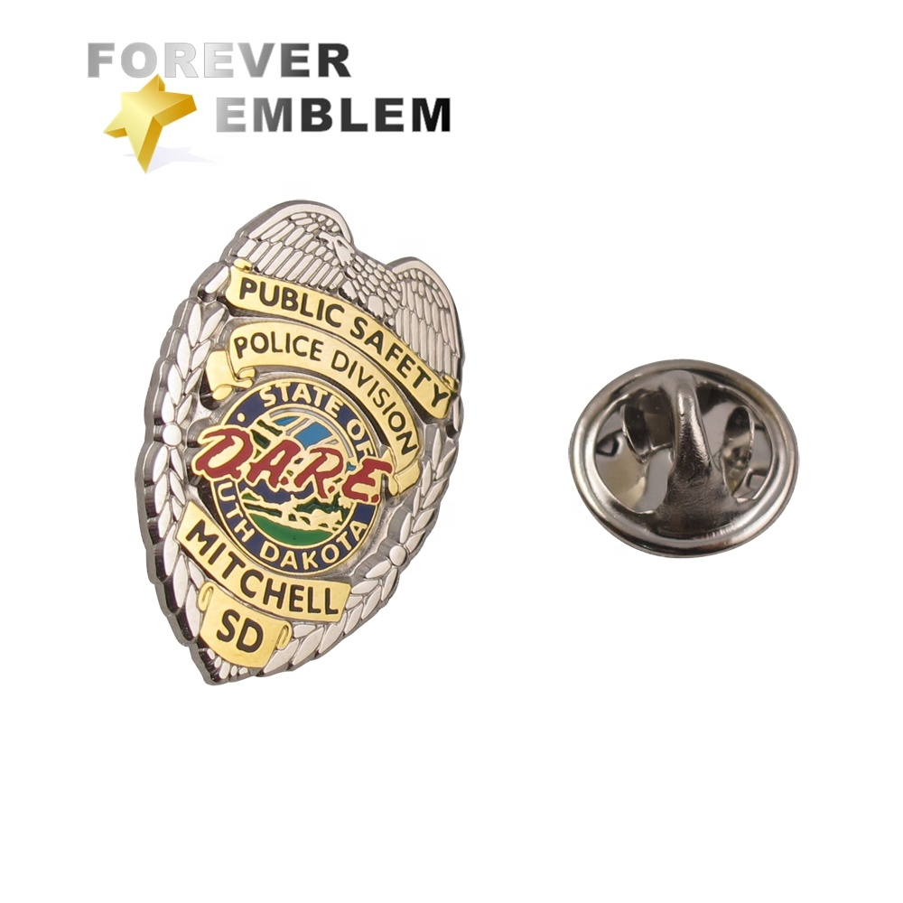 Custom Lapel Pins No Minimum Shield Police Pin Secret Service Badge - Buy  Custom Lapel Pins No Minimum,Police Pin,Secret Service Badge Product on