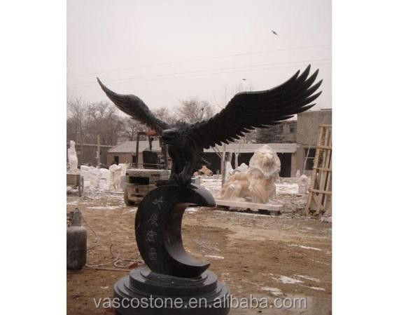 Tuin product carving steen graniet eagle standbeeld